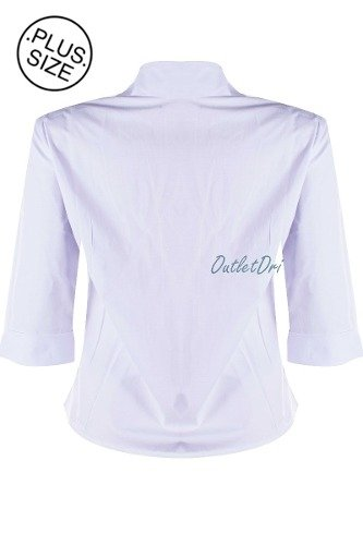 4413ac700e65d Camisete Feminino Camisa Social Branco Manga Curta Bordado