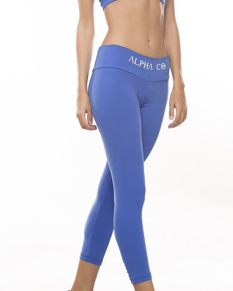 Legging Fitness Unhada Lateral Azul Royal