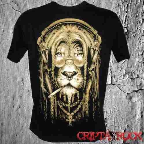 Camiseta Reggae Leão Rastafari (sinc) - CRIPTA ROCK 3c87c4b9dde