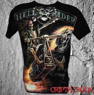 Camiseta Moto Motoqueiro Hell Rider (sinc)
