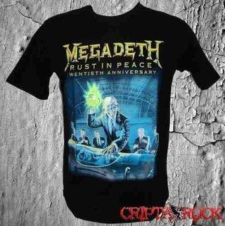 Camiseta Banda Rock Thrash Heavy Metal Megadeth (sinc)