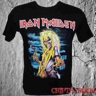 Camiseta Banda Metal Iron Maiden Killers 12 Anos (sinc)