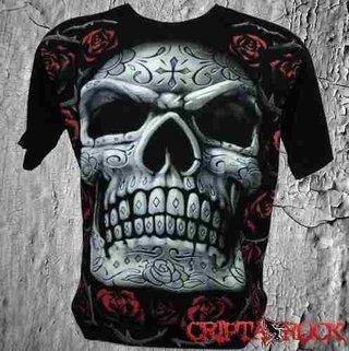 Camiseta Full Caveira Mexicana (sinc)