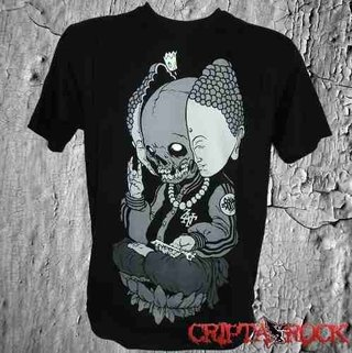 Camiseta Caveira Om Buda (sinc)