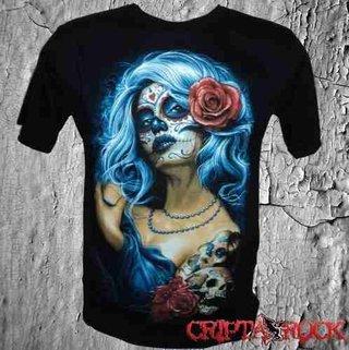 Camiseta Banda Séries Tatoo La Catrina (sinc)