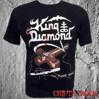 Camiseta De Banda Rock Heavy Manga Curta King Diamond (sinc)