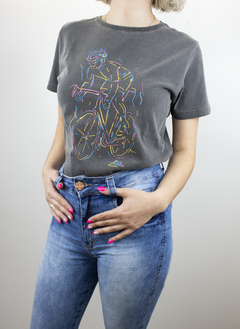 Camiseta Casual Fem Marcio May Neon Biker na internet