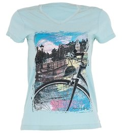 Camiseta Casual Feminina Márcio May Amsterdam City Estonada