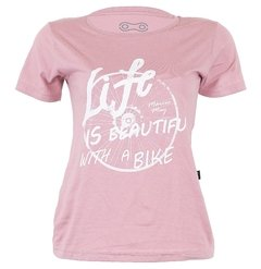 Camiseta Casual Feminina Márcio May Life is Beautiful