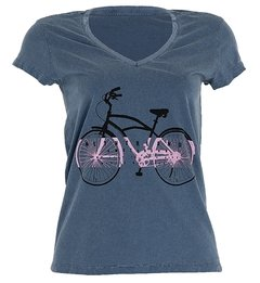 Camiseta Casual Feminina Márcio May Amsterdam Bike Estonada