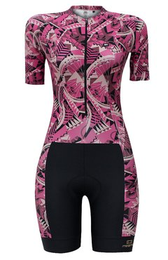 Macaquinho de Ciclismo Feminino Márcio May Slim Fit Bike Cherry - Márcio May Sports - Roupas para Ciclismo