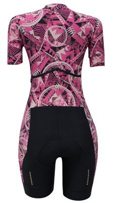 Macaquinho de Ciclismo Feminino Márcio May Slim Fit Bike Cherry - Márcio May Sports - Roupas para Ciclismo e Uniformes Personalizados
