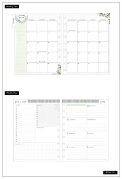 2020 Deluxe Classic Happy Planner® - Floral Homebody - 12 Months - comprar online