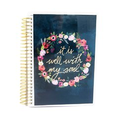 Floral Wreath Mini Planner