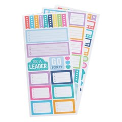 Goals And Trackers Sticker Book