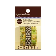 Green & Yellow Geometric Print Washi Tape