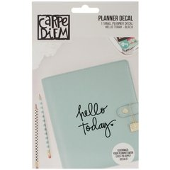 Hello Today Black Planner Decal - comprar online