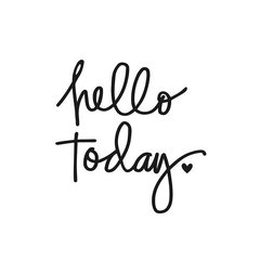 Hello Today Black Planner Decal