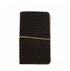 Large Black with Gold Dots Journal