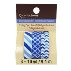 Navy & Light Blue Print Washi Tape