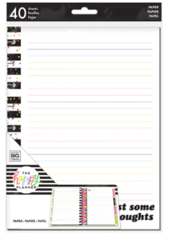 The Classic Happy Planner® Notes Striped Student Paper Fillers