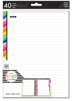 The Classic Happy Planner® Student Thoughts Paper Fillers