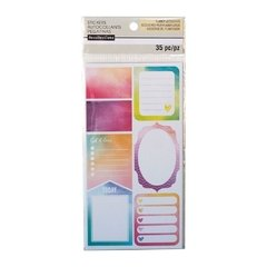 Watercolor Journal Label Stickers