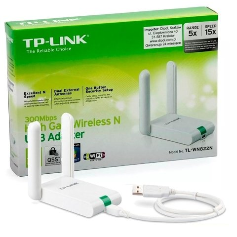 TL Wn822n Tp Link Placa De Red Wifi Usb 300mpbs 2 Antenas