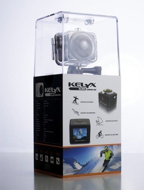 Camara Kelyx Kl360 Action Cam 1080p Full Hd Captura 360° - comprar online