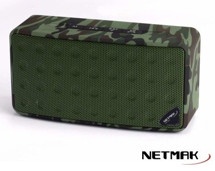 Parlante Netmak Portable Nm-war Bluetooth Camuflado