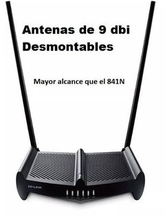 Router TL Wr841hp Tp Link Wifi 300mbps 841hp Rompe Muros - comprar online