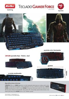 Ktg-502e Kolke Teclado Gaming Usb 114 Teclas Retroiluminado - ARROW