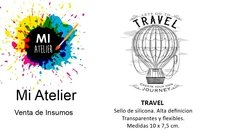 Sello Arrolete - Travel - Medidas 10 x 7,5 cm