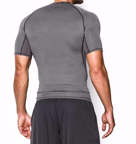 Remera Under Armour Heatgear Compression / Gris-negro en internet