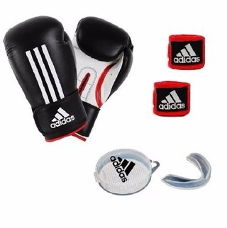Kit adidas Guantes Boxeo Energy 100 12 Oz + Vendas + Bucal