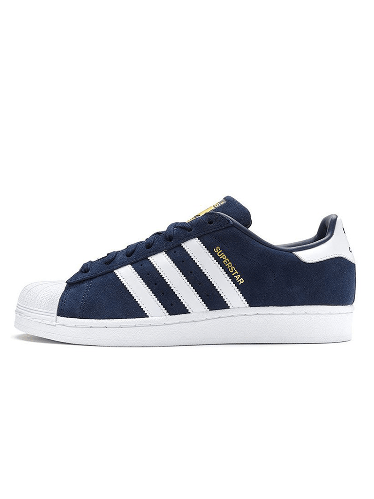 brand new bc573 10e42 Zapatillas Adidas superstar Gamuza Azul