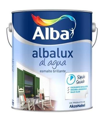 Esmalte Albalux Al Agua Brillante Verde Ingles 1lts-colormix