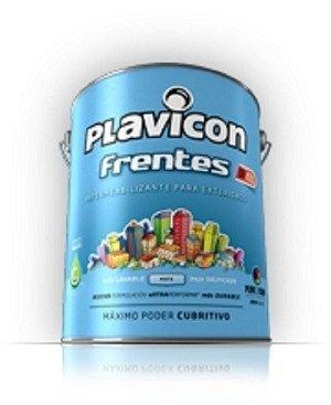 Latex Exterior Plavicon Frentes Gris Cemento  25kg- Colormix