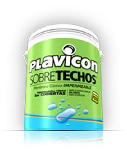 Pintura Techos Plavicon Sobretechos Blanco 10kg- Colormix