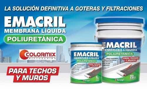 Membrana Liquida Emacril Poliuretanica  4kg- Cordoba