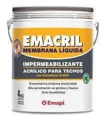 Pintura Techos Membrana Liquida  Emacril Blanco 1 Kg