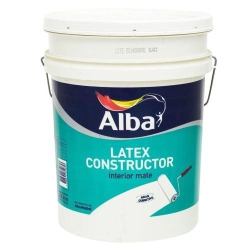 Pintura Latex Constructor Alba Blanco Mate 4 Lts-cordoba