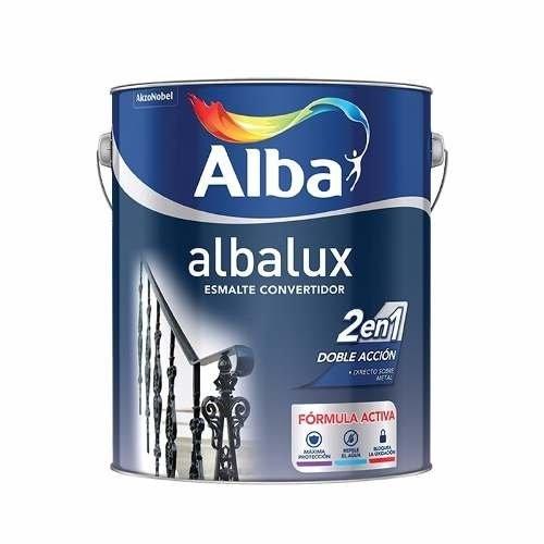 Esmalte Albalux 2en1(esm+conv)Forja Gris/Negro 4lts-Colormix