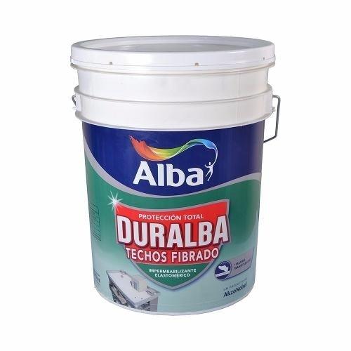 Duralba Techos Impermeabilizante Fibrado-20 Lts -colormix