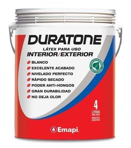 Latex Emapi Duratone Interior-exterior Blanco Mate 20lt