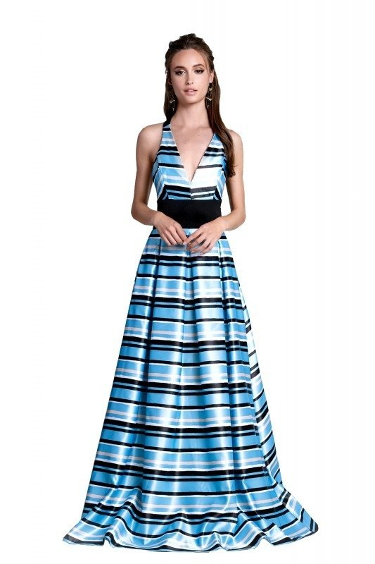 Vestido Blue Stripes - LN Deluxe