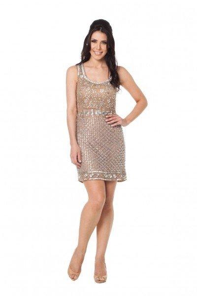 907455c656 ... comprar-vestido-curto-nude-cetim-tule-bordado-usado- ...