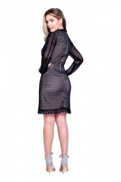 7b196e16f5 ... comprar-vestido-curto-preto-renda-manga-comprida-usado- ...