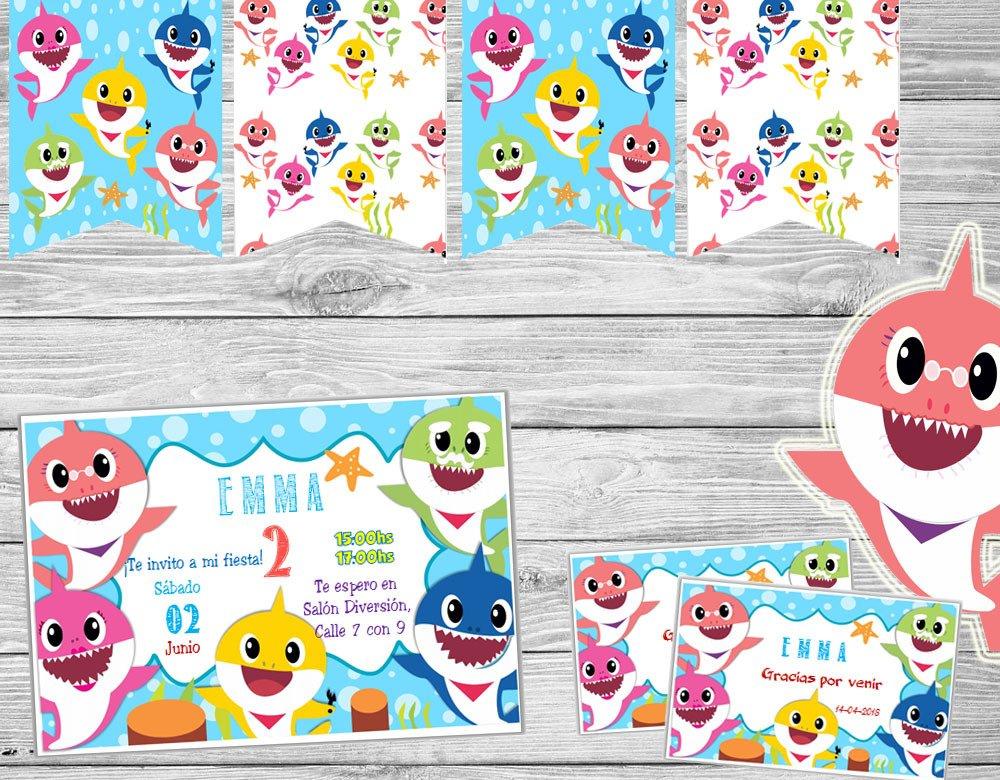 Imágenes En Png Para Editar: Kit Imprimible Baby Shark Cumpleaños Candy Bar
