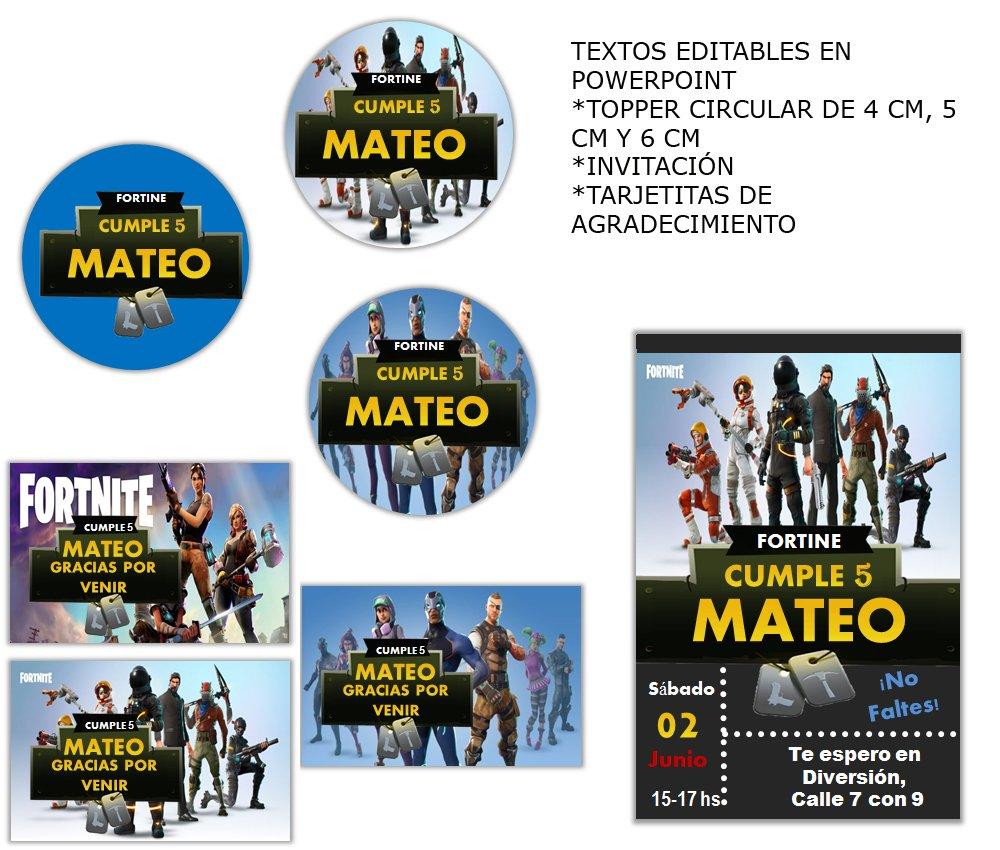 Invitaciones De Cumpleanos Fortnite Para Imprimir Gratis